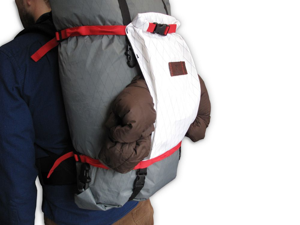 """The stash pocket--just one of the many features on the new Bush Smarts Backpack. No more """"let me take my pack off to put my jacket away."""" Kickstarting April 2016."""