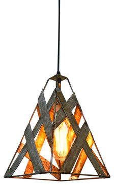 Safari Pendant Light Brushfire Wine Barrel Ring Light