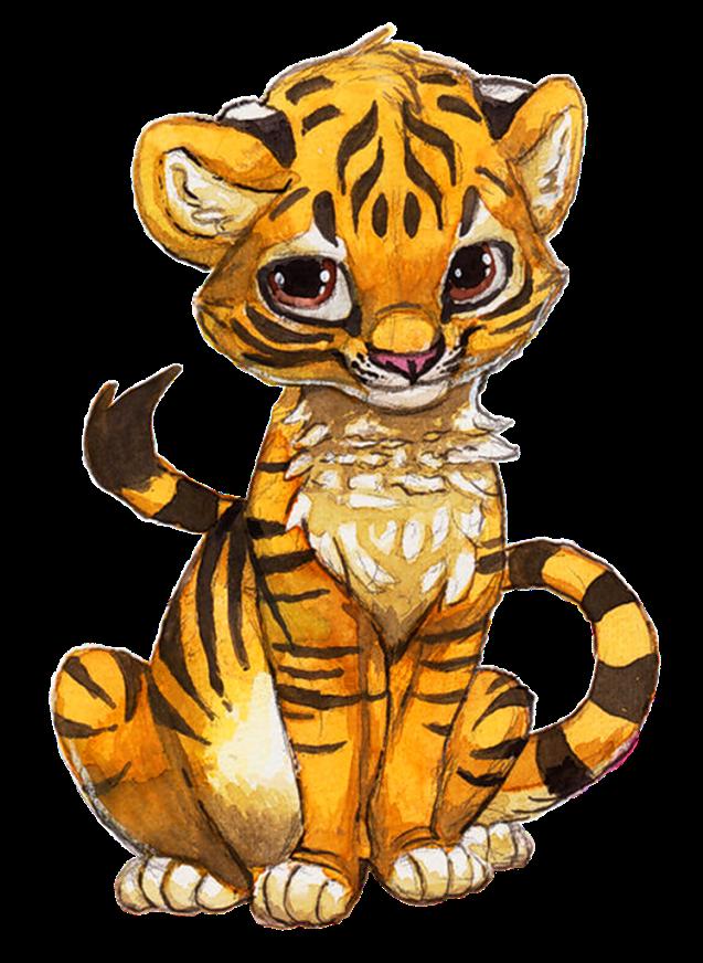 Днем рождения, картинки тигрята милые нарисованные