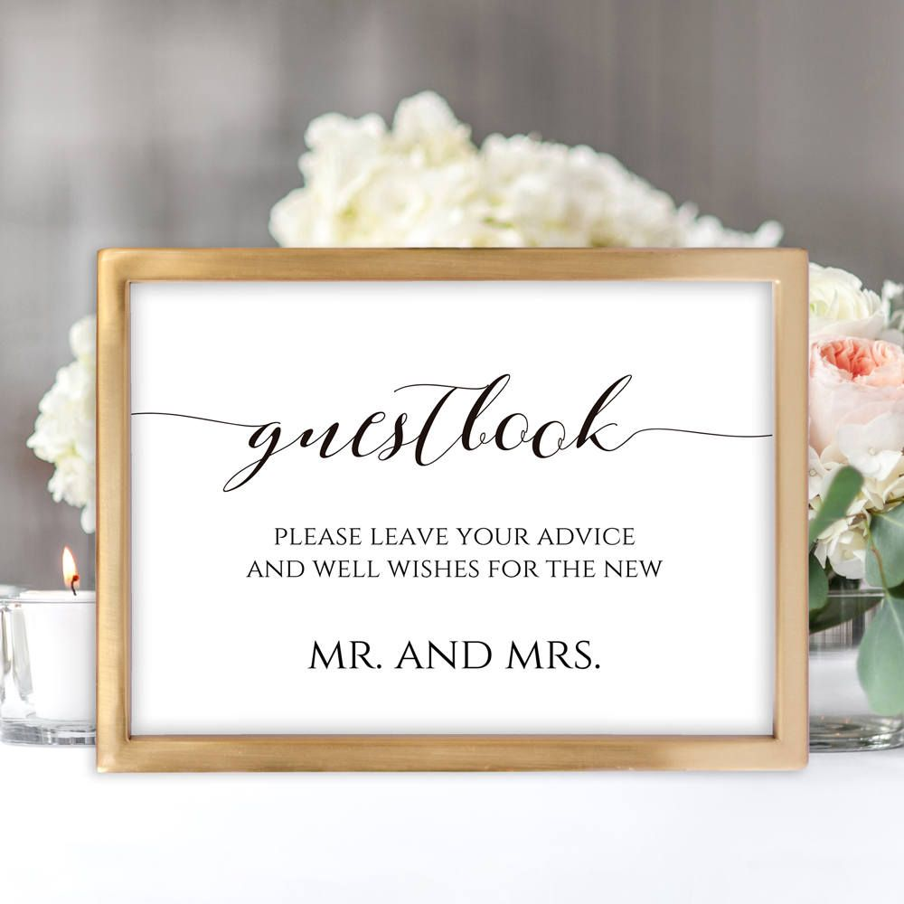 This Product Is An Editable And Printable Guest Book Sign You Can Edit The Text Font Wedding Guest Book Table Sign Wedding Guest Book Sign Wedding Guest Book