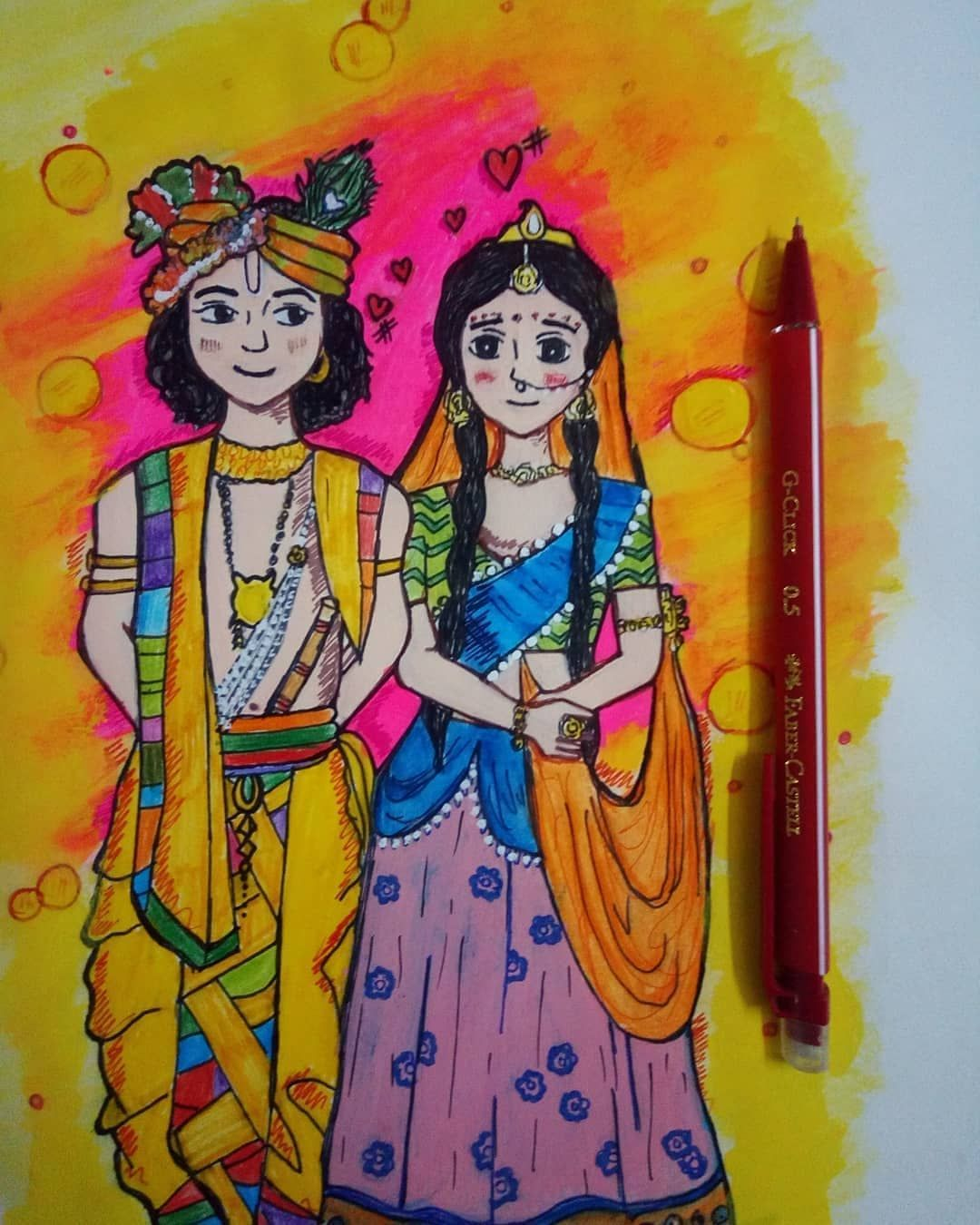 Image May Contain 1 Person Radha Krishna Sketch Krishna Painting Krishna Radha Painting
