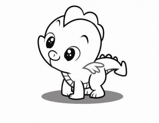 young spike the dragon my little pony coloring pages cute coloring pages girls coloring pages pony free online coloring pages and printable coloring - Cute Coloring Sheets