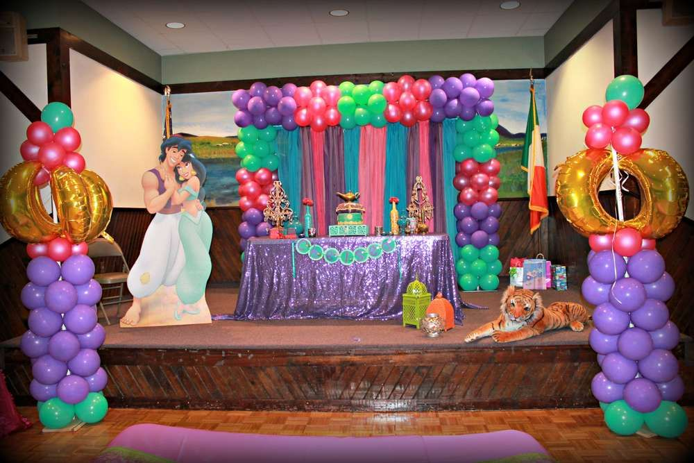Princess jasmine birthday party ideas arabian nights for Aladdin decoration ideas