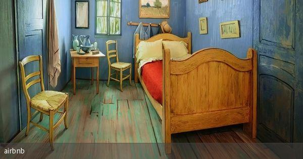 van gogh lädt ein: vincents schlafzimmer wird zur airbnb, Schlafzimmer