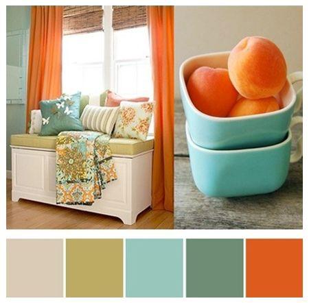 Paleta De Color Naranja Azul Paletas De Colores Decoracion De Interiores Colores Para El Hogar