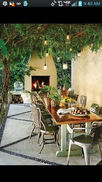 poured concrete slab patio in several slabs with cement mounted stones in the
