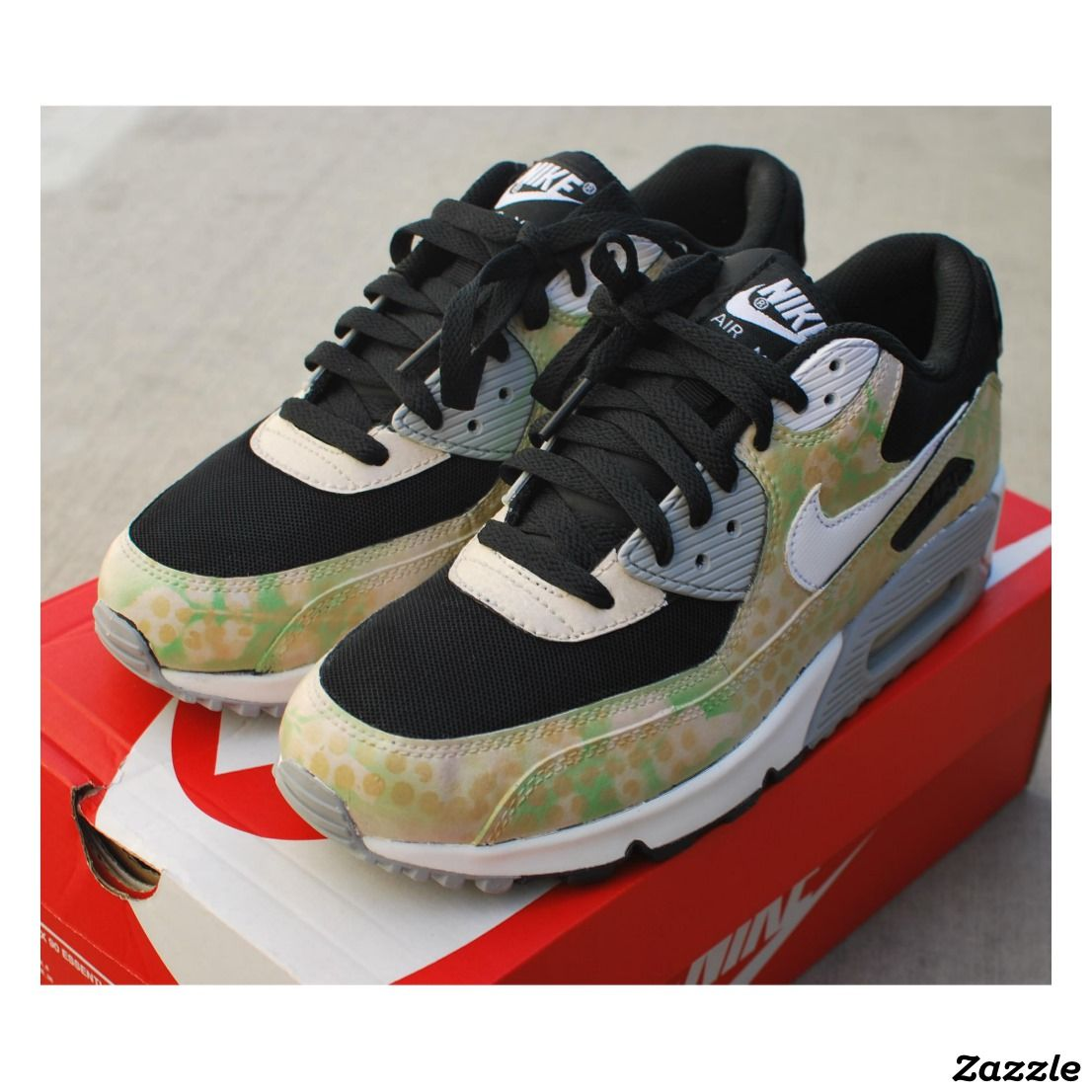 Hand Painted Camo Nike Air Max 90 Running Shoes Zazzle