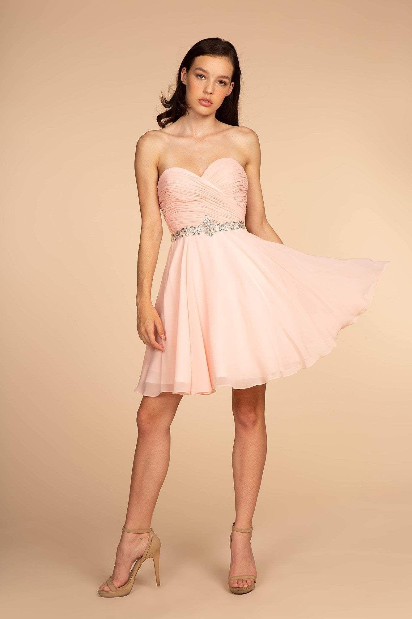 Elizabeth K Gs1637 Ruched Sweetheart A Line Cocktail Dress Chiffon Dress Short Elegant Dresses Short A Line Cocktail Dress [ 2000 x 1333 Pixel ]