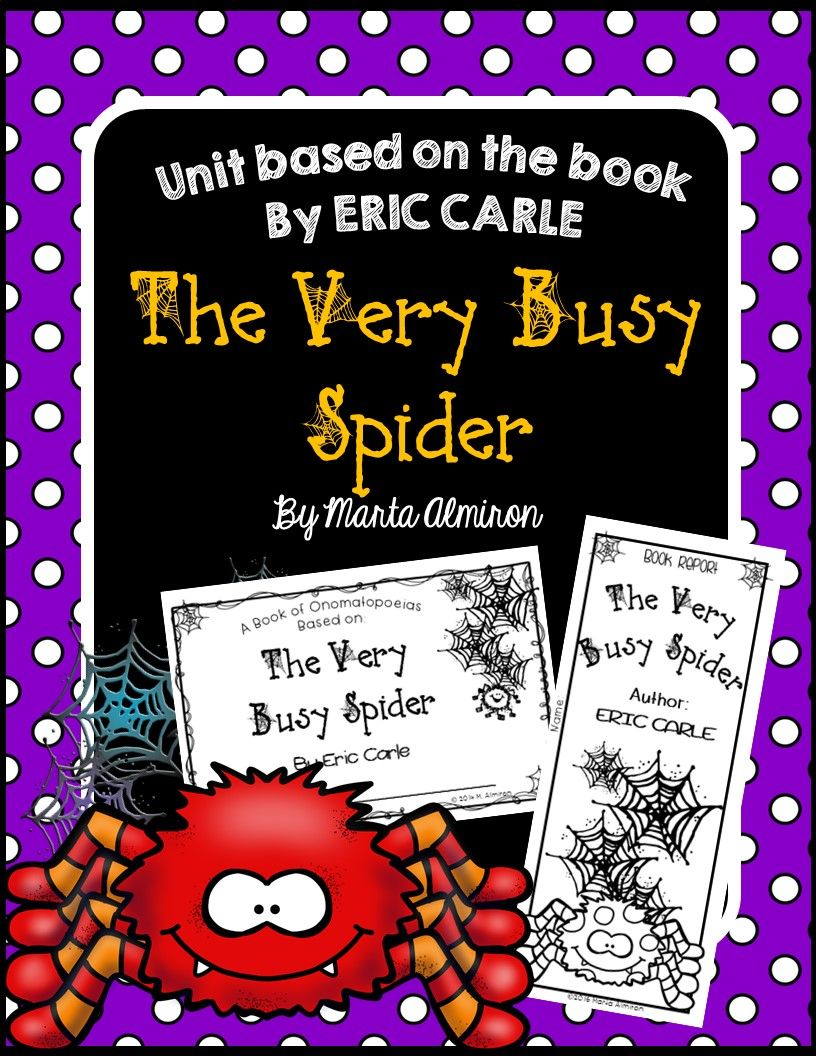 Unit Based on the Book THE VERY BUSY SPIDER by Eric Carle