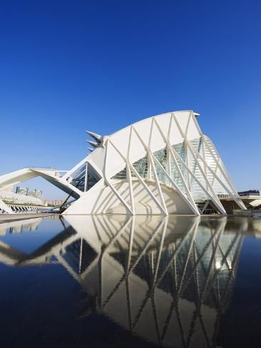 'Science Museum, Architect Santiago Calatrava, City of Arts and Sciences, Valencia, Spain, Europe' Photographic Print - Christian Kober | Art.com
