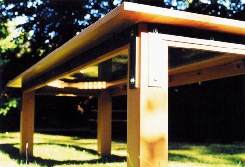 Konferenztisch / Esstisch 293 x 120 cm, massiv Buche, Glaseinlage in - Ebay Küchen Kaufen