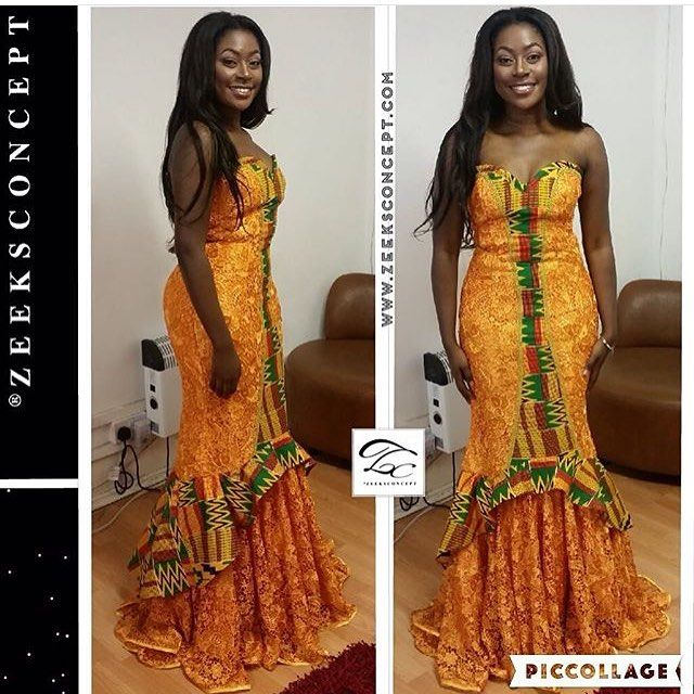 Ghana Kente Wedding Gown