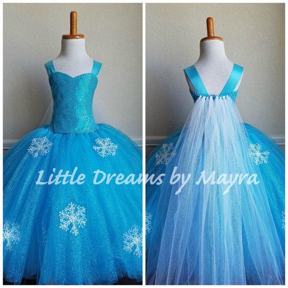 f53b71120c Traje inspirado en la Reina Elsa talla para ninas recien