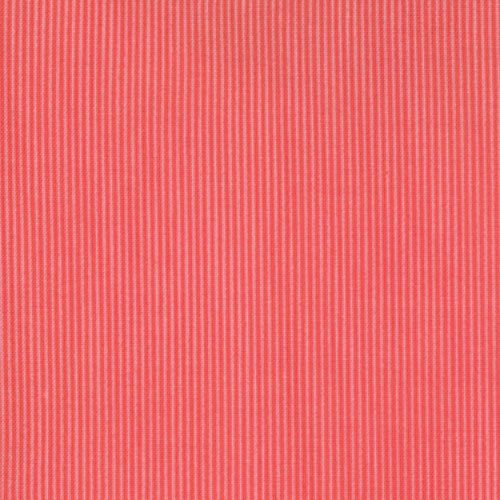 JUST WING IT Moda modern quilting fabric Momo tomato red tiny stripe tone on tone blender 1 yard 32447-11