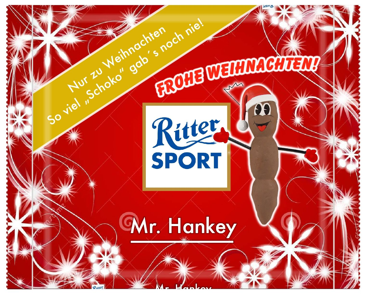 ritter sport mr hankey frohe weihnachten ritter. Black Bedroom Furniture Sets. Home Design Ideas