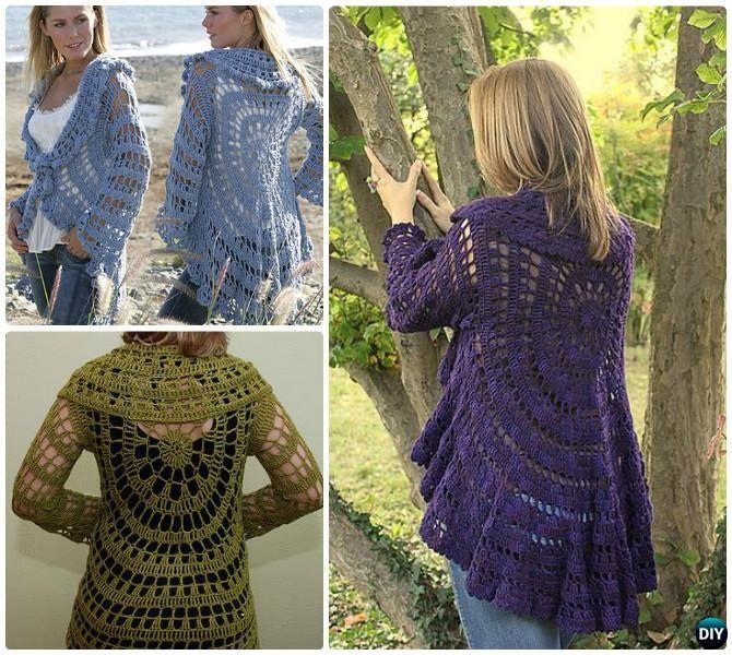 Diy Crochet Moonlight Mist Circle Sweater Coat Free Pattern Crochet