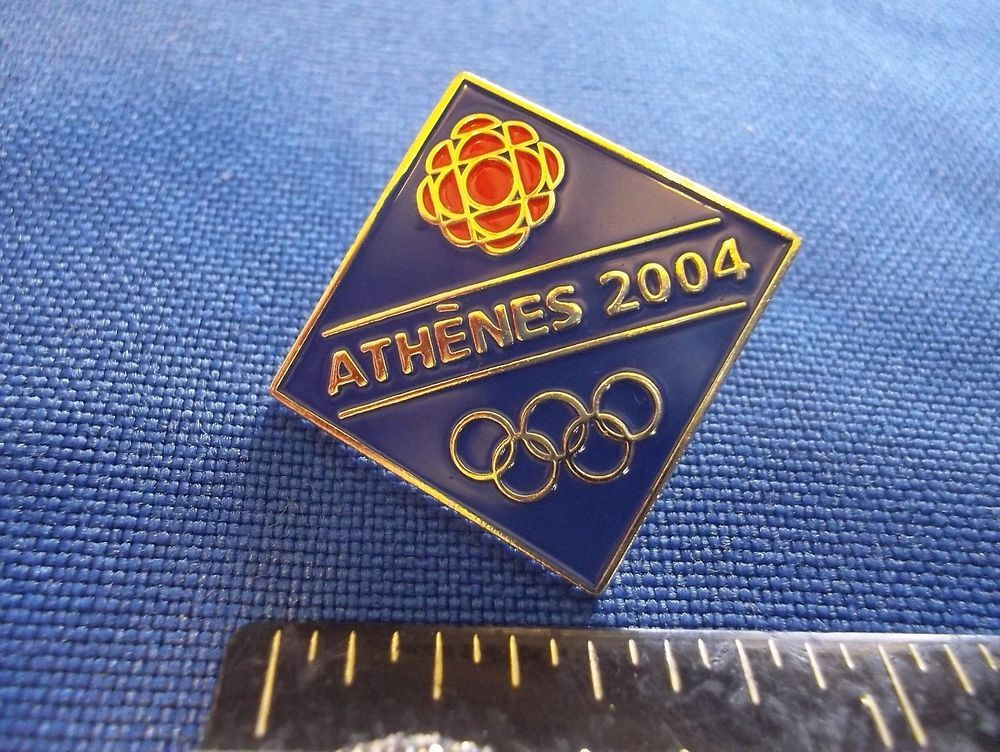 2004 Athens Olympic Media Pin CBC Canadian Broadcasting