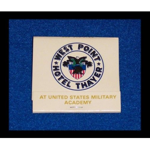 HOTEL THAYER WEST POINT MATCHBOOK US MILITARY ACADEMY ARMY HUDSON RIVER - $0.75