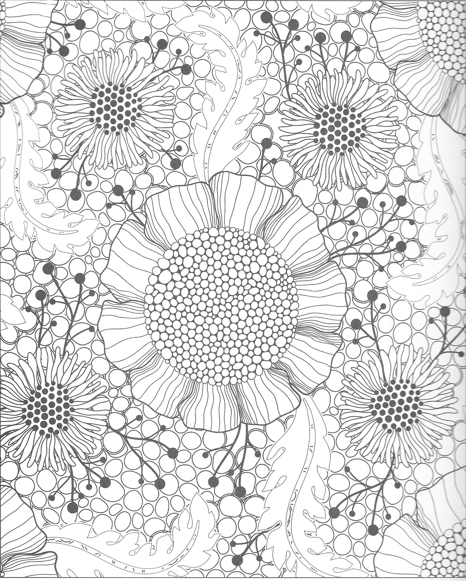 Malvorlagen colour bunt ausmalen coloring pages flowers blumen