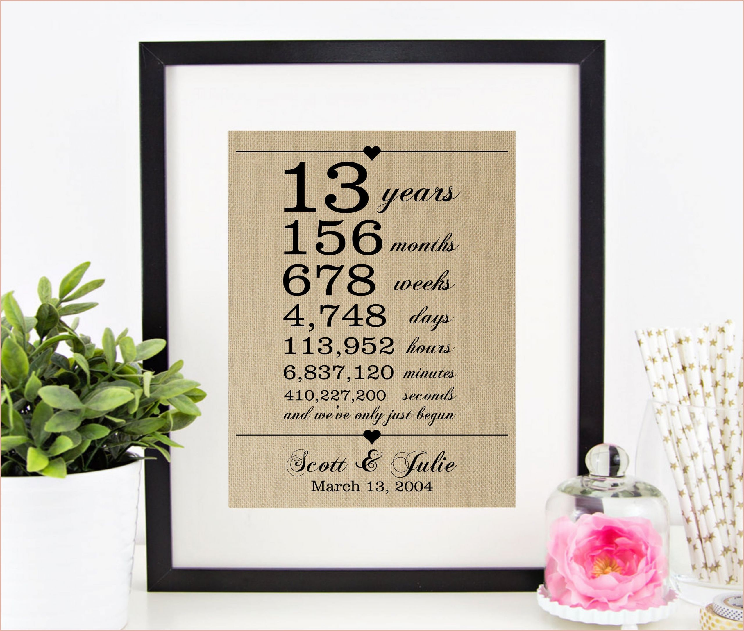 Magnificent 13th Wedding Anniversary Gift For Her That Will Wow You 13th Wedding Anniversary Gift 30th Wedding Anniversary Gift 20th Wedding Anniversary Gifts