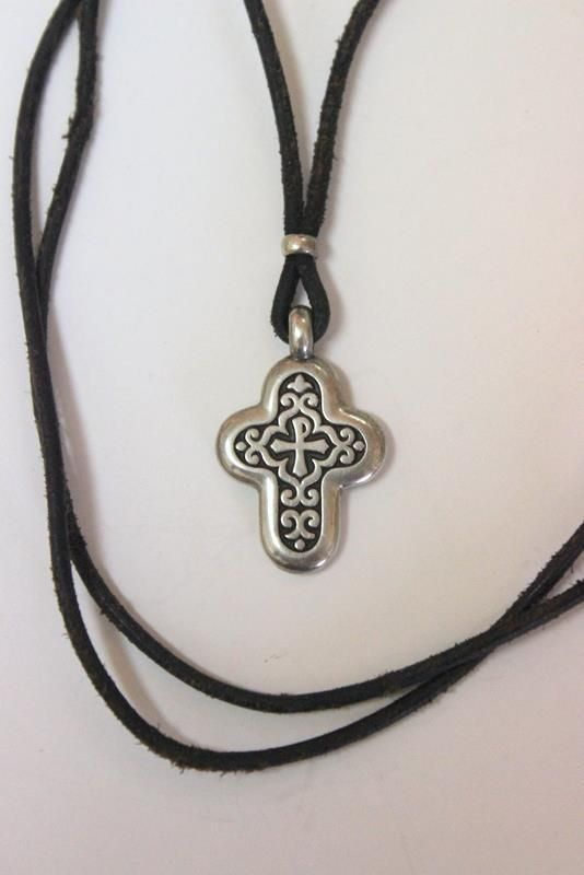 Retired james avery sterling silver chi rho cross pendant on leather retired james avery sterling silver chi rho cross pendant on leather necklace jamesavery pendant aloadofball Gallery
