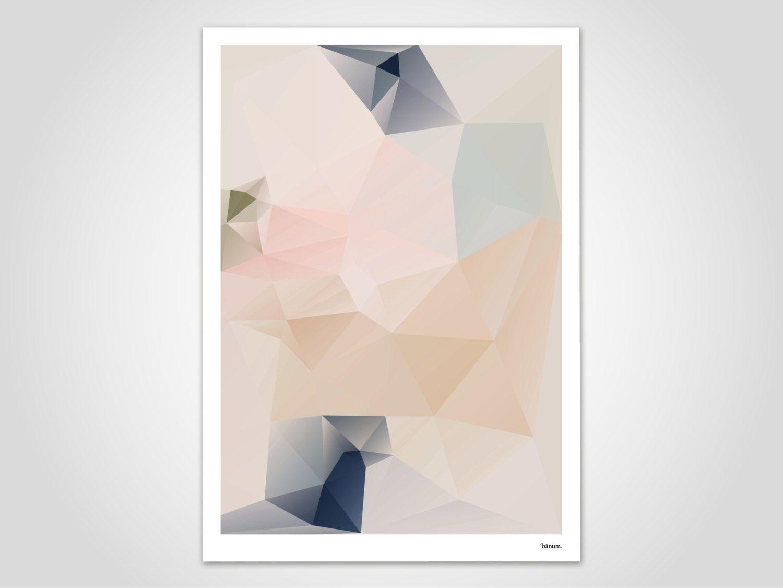 Kunstdrucke Modern pastel 3 modern poster abstract prints modern wall