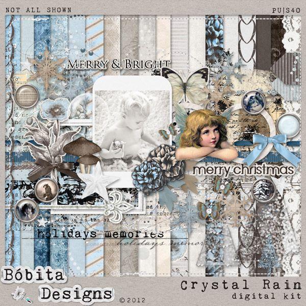 Crystal Rain by Bóbita Designs  Shop @ Mscraps:  http://www.mscraps.com/shop/bobitadesigns/?treemenu=y