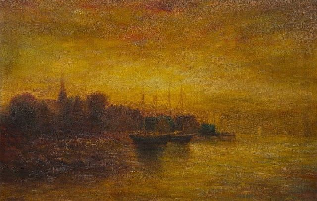 Hudson Mindell Kitchell (1862-1944), Ships at Dock.