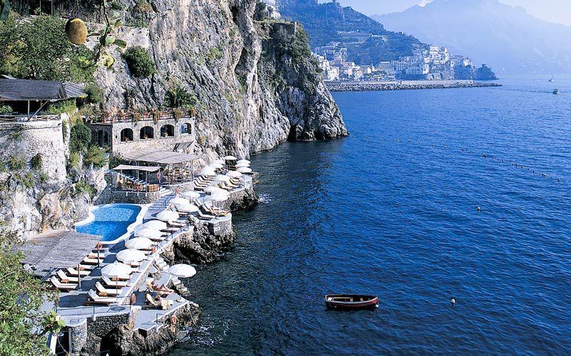Beach On The Amalfi Coast Hotel Santa Caterina Viaggio Italiano Pinterest And Italy
