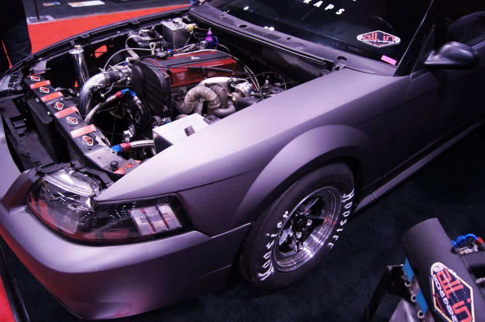 Ford #Mustang with a #4G63 #Mitsubishi #Lancer EVO Engine Swap
