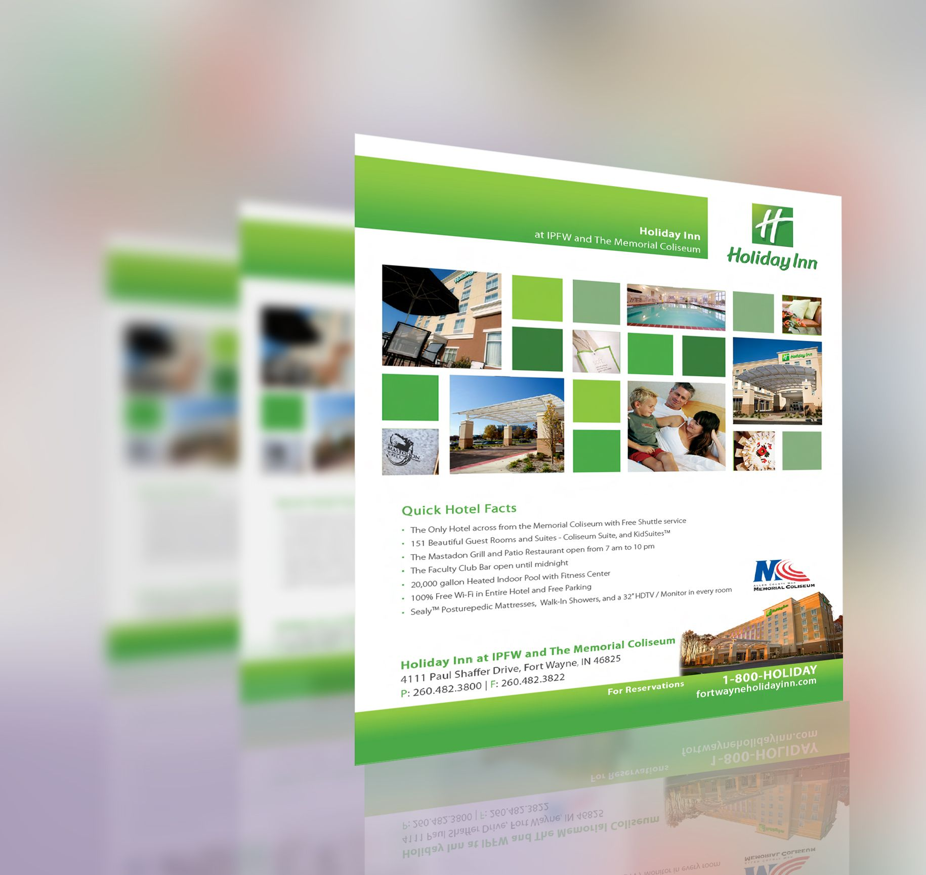 Holiday Inn Facts Sheet | Collateral Design | Pinterest | Holiday ...