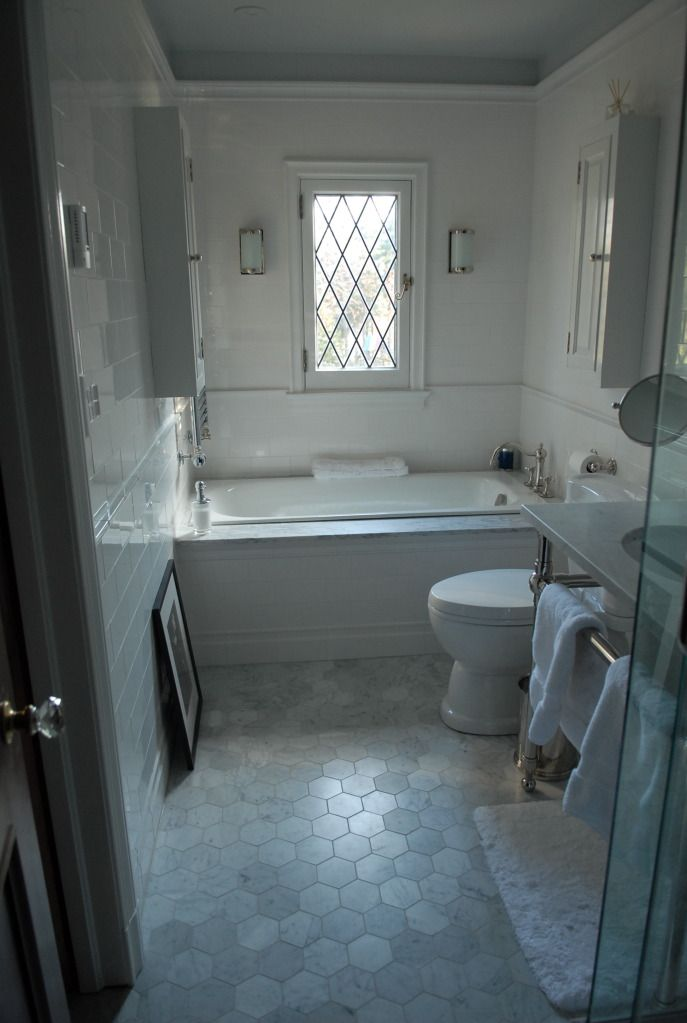 Tub is Porcher cast iron, Toto mercer toilet, Gramercy wash stand ...