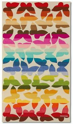 Missoni Beach Towel #rainbow