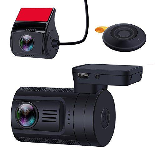 GPS Dual Lens HD DVR Car Dash Cam with Sony Sensor Rear Camera with Night Vision