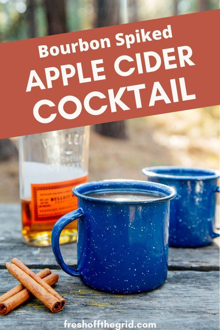 Spiked Apple Cider | Campfire Cocktail