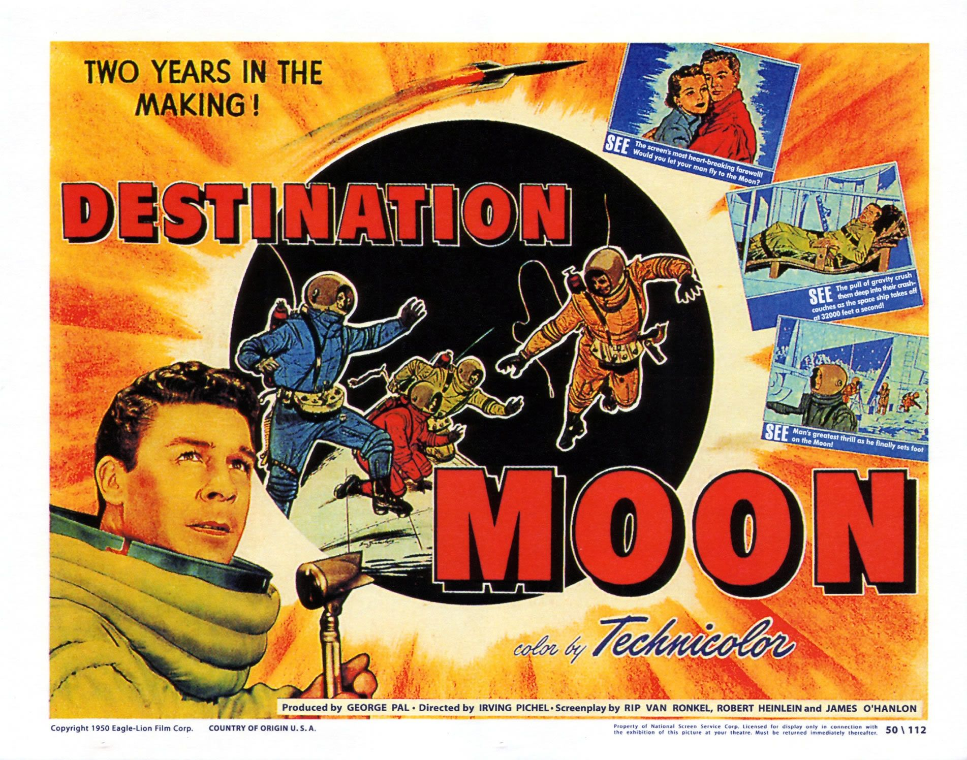 "Cinema poster for the 1950 ""scientifically accurate"" sci ..."