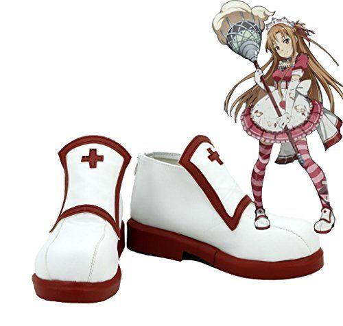 SAO Sword Art Online Asuna Cosplay Shoes Maid Boots Custom Made
