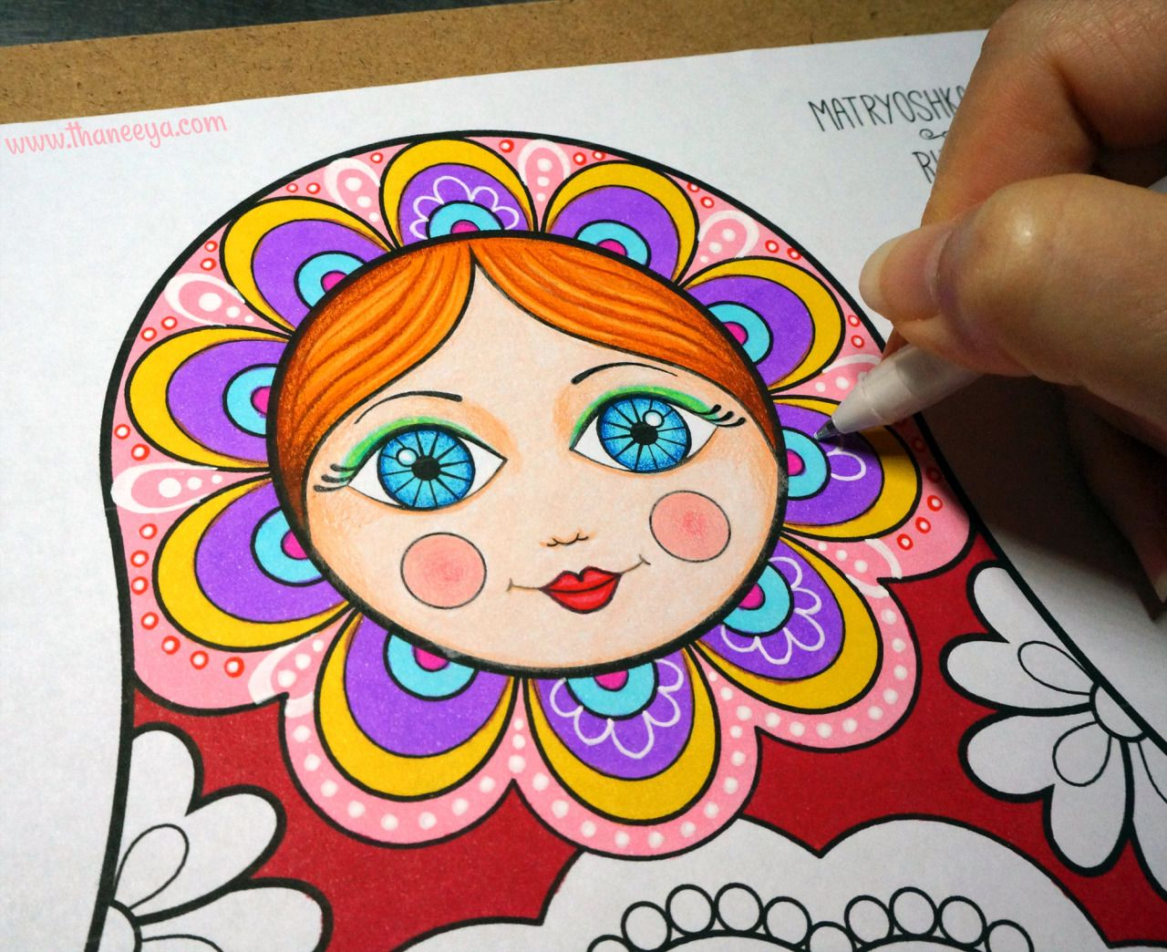Matryoshka Russian Nesting Doll Coloring Page From