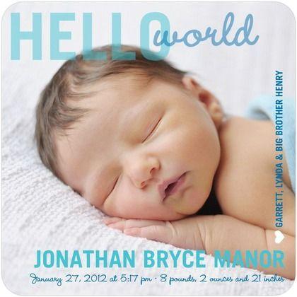 cute birth announcement! Sophia  Sawyer Pinterest Dream baby