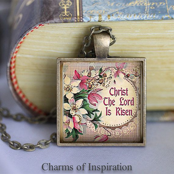 Christ the lord is risen bible verse necklace easter gift bible christ the lord is risen bible verse necklace easter gift negle Choice Image