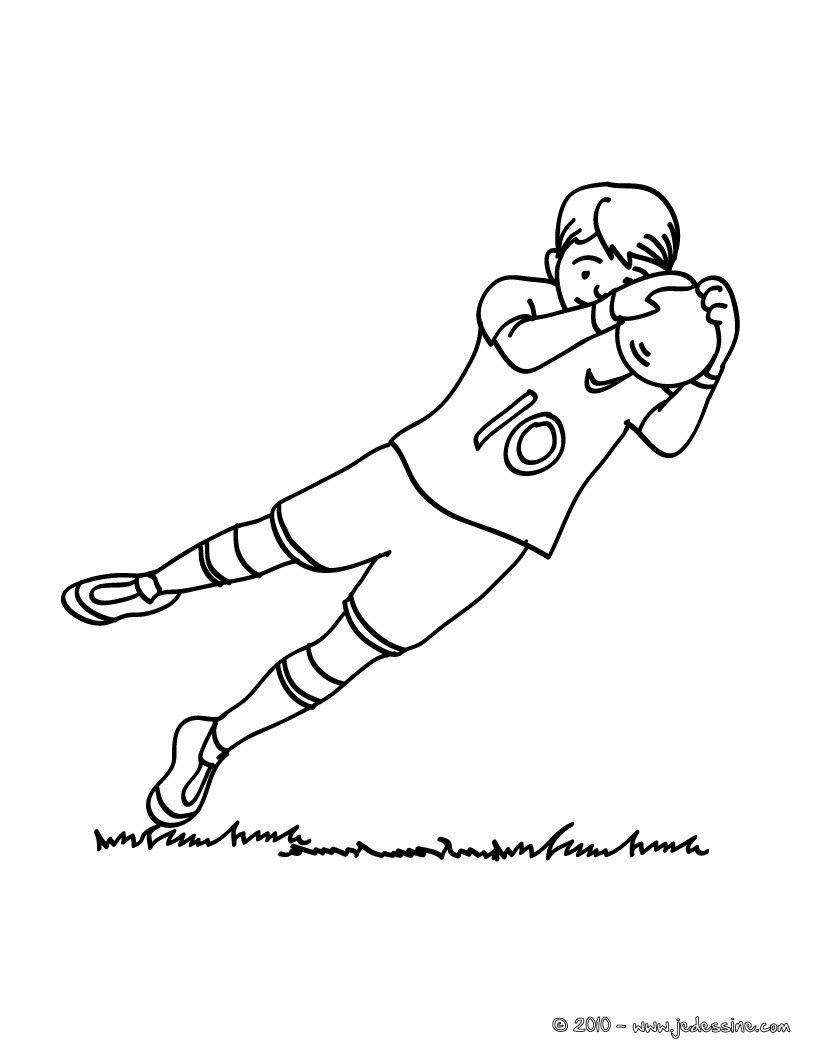 Coloriage d un gar n de foot pendant un match Un joli coloriage pour les