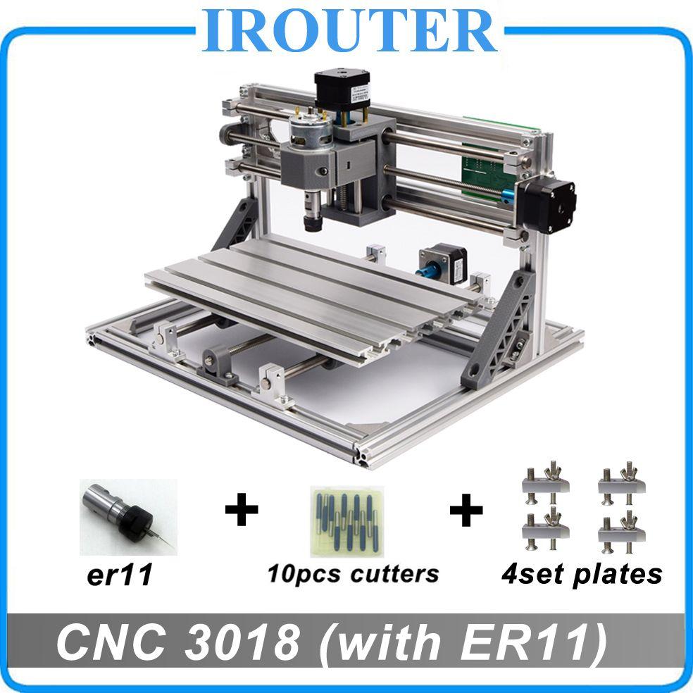 CNC3018 withER11,diy mini cnc engraving machine,laser engraving,Pcb ...