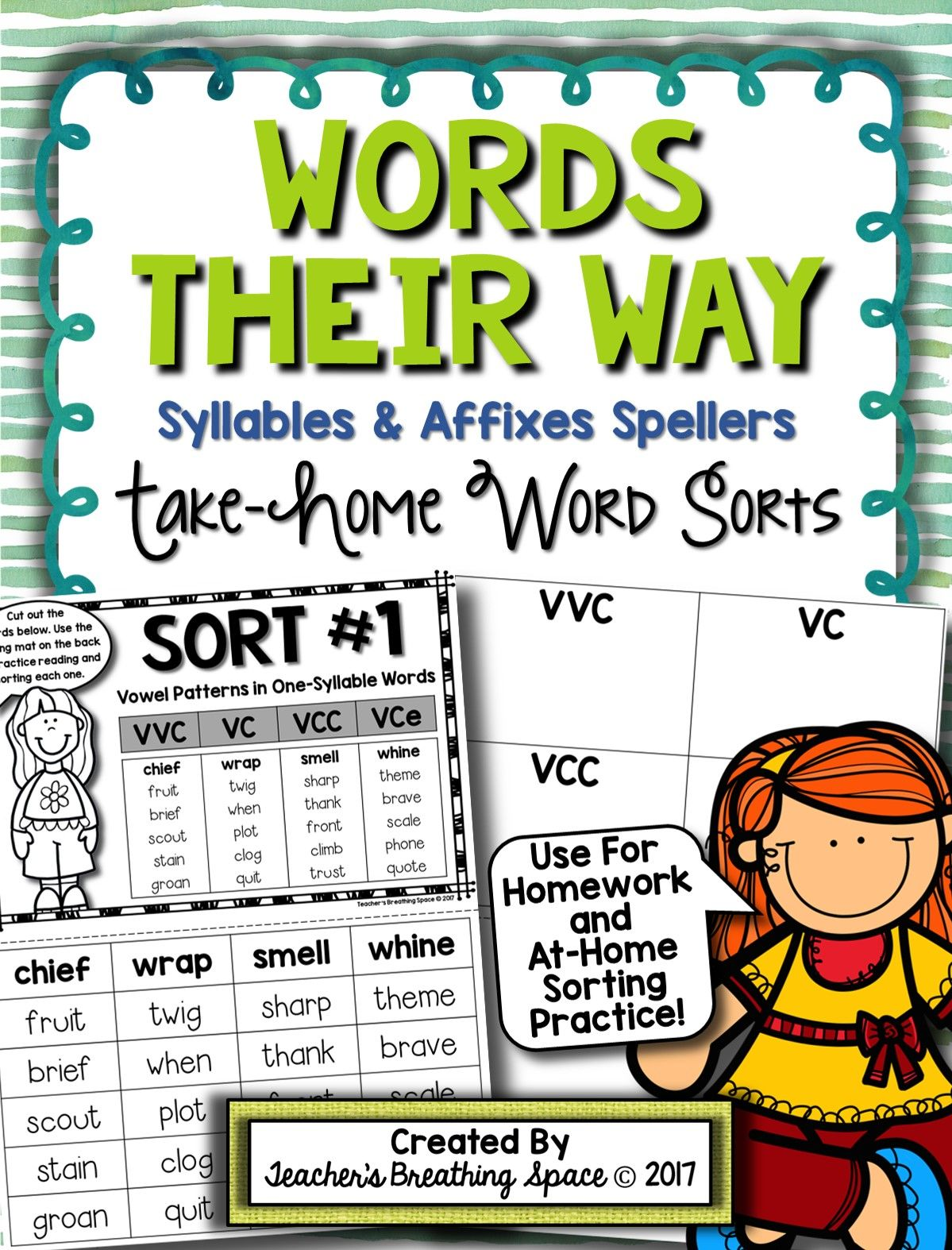 Words Their Way -- Syllables & Affixes Sorts (1-56) -- Homework ...