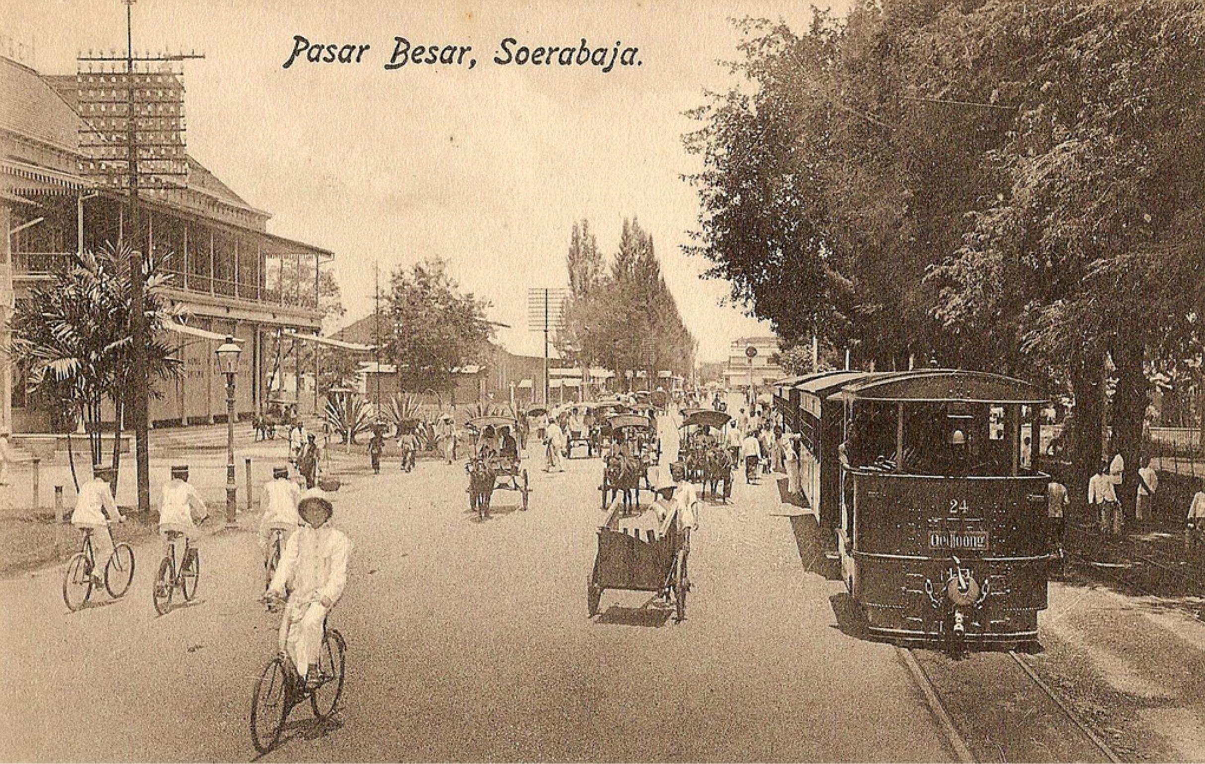 Pasar Besar Soerabaja Indonesia Sejarah Belanda