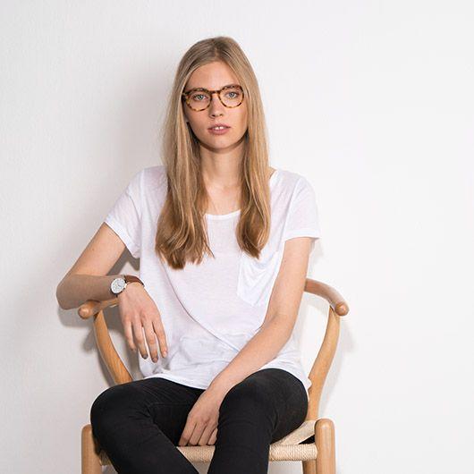 2cb654a6bf2 Prism eyeglasses in Blonde Tortoise. Minimalist eyewear brand RFLKT ...