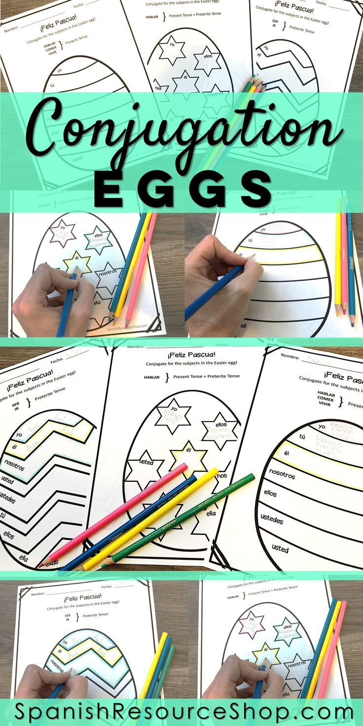 Spanish Easter Conjugation Eggs | Easter / Semana Santa ...
