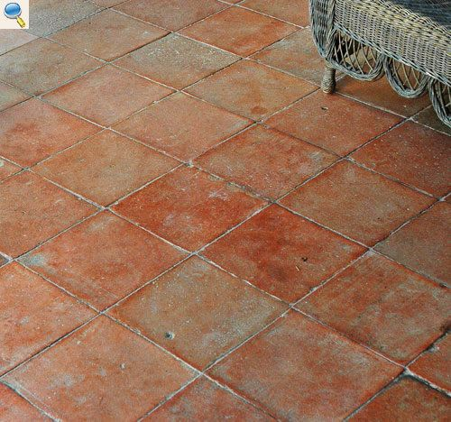 Carrelage terre cuite ancien sol pinterest carrelage for Carrelage faience ancienne