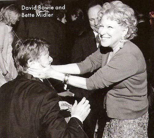 David Bowie & Bette Midler, New York City, 2008