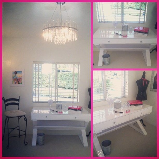 Tiffany Lee Bymaster Uses Z Gallerie S Jett Desk As A Makeup Station I