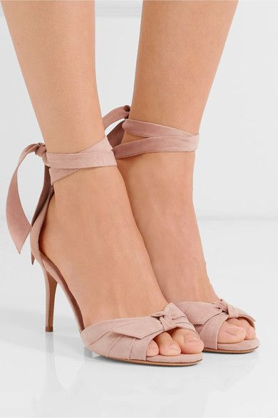 ff45ad2cb63 Heel measures approximately 75mm  3 inches Blush suede Ties at ankle  Imported